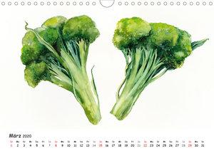 Gemüse Aquarelle (Wandkalender 2020 DIN A4 quer)