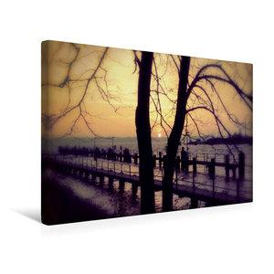 Premium Textil-Leinwand 45 cm x 30 cm quer Sonnenaufgang in Holt