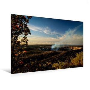 Premium Textil-Leinwand 120 cm x 80 cm quer Sonnenaufgang am Kra