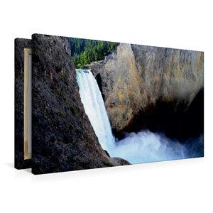Premium Textil-Leinwand 90 cm x 60 cm quer Der Yellowstone Wasse