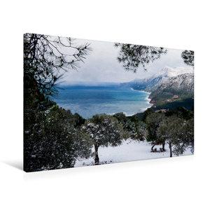 Premium Textil-Leinwand 75 cm x 50 cm quer Winterstimmung mit Sc
