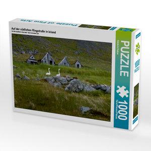 Auf der südlichen Ringstraße in Island 1000 Teile Puzzle quer