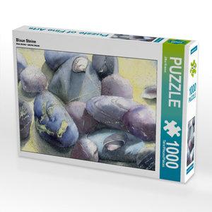 Blaue Steine 1000 Teile Puzzle quer