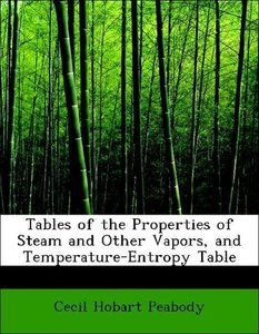 Tables of the Properties of Steam and Other Vapors, and Temperat