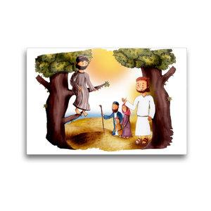 Premium Textil-Leinwand 45 cm x 30 cm quer Zachäus und Jesus tre