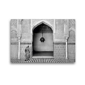 Premium Textil-Leinwand 45 cm x 30 cm quer Madrasa Attarine in F