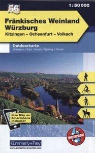 KuF Deutschland Outdoorkarte 56 Fränkisches Weinland - Würzburg