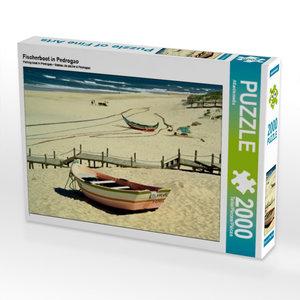 Fischerboot in Pedrogao 2000 Teile Puzzle quer