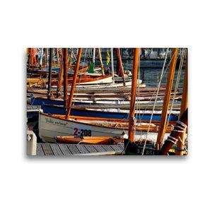 Premium Textil-Leinwand 45 cm x 30 cm quer Port von Vannes
