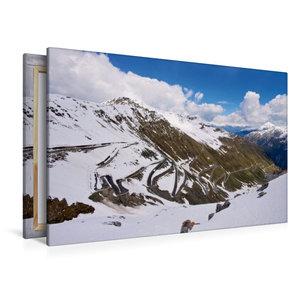 Premium Textil-Leinwand 120 cm x 80 cm quer Stilfser Joch