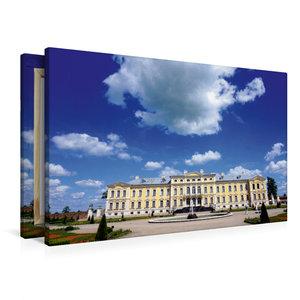 Premium Textil-Leinwand 90 cm x 60 cm quer Schloss Ruhenthal/Run