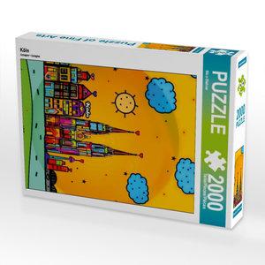 Köln 2000 Teile Puzzle hoch