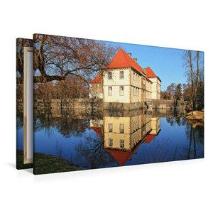 Premium Textil-Leinwand 120 cm x 80 cm quer Wasserschloss Strünk