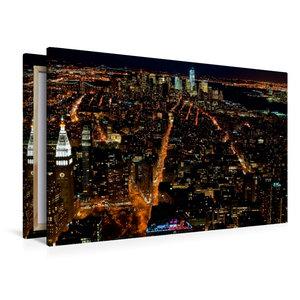 Premium Textil-Leinwand 120 cm x 80 cm quer Manhattan South / Ne