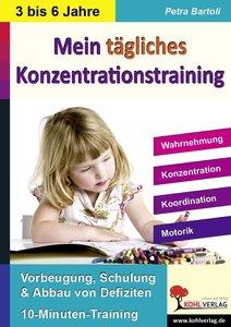 Kohls Konzentrationstraining Kindergarten & Vorschule Bis zu 10