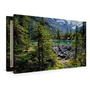 Premium Textil-Leinwand 90 cm x 60 cm quer Lake O\'Hara