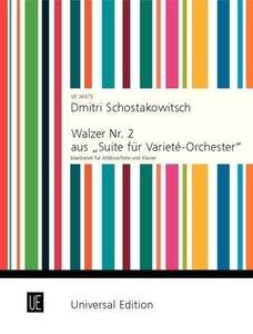 """Walzer Nr. 2 aus \""""Suite für Varieté-Orchester\"""", für Altblockfl"""