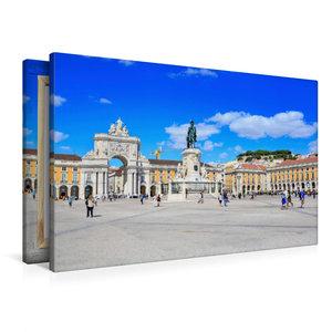 Premium Textil-Leinwand 90 cm x 60 cm quer Praca do Comercio