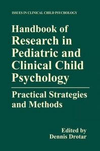 Handbook of Research in Pediatric and Clinical Child Psychology