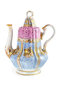 Premium Textil-Leinwand 50 cm x 75 cm hoch Märchenhafte Teekanne
