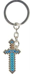 Minecraft Diamond Schwert Schlüsselanhänger, Keychain, Metall