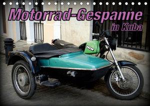 Motorrad-Gespanne in Kuba (Tischkalender 2019 DIN A5 quer)