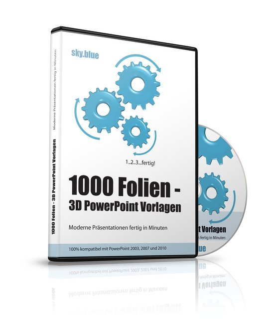 1000 Folien - 3D PowerPoint Vorlagen - Farbe: sky.blue (2016 ...