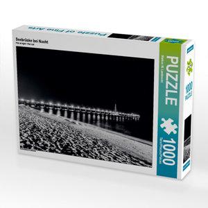 Seebrücke bei Nacht 1000 Teile Puzzle quer