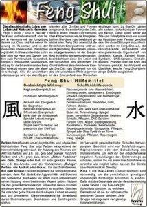 Feng Shui / Medizinische Taschen-Karte
