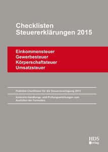 Checklisten Steuererklärungen 2015