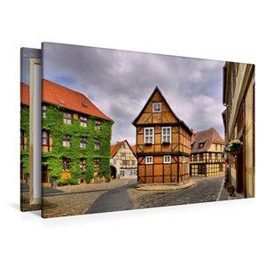 Premium Textil-Leinwand 120 cm x 80 cm quer Quedlinburg