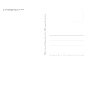 Bodensee Aquarell 2018. Postkarten-Tischkalender