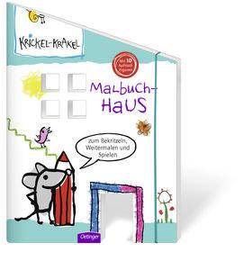 Krickel-Krakel Malbuch Haus mit aufstellbaren Figuren