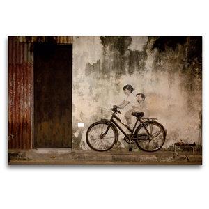 Premium Textil-Leinwand 120 cm x 80 cm quer Straßenkunst in Geor