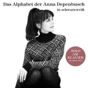 Das Alphabet der Anna Depenbusch in Schwarz-Weiß.