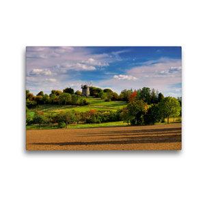 Premium Textil-Leinwand 45 cm x 30 cm quer Holländer-Windmühle E