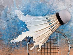 CALVENDO Puzzle SPORT trifft SPLASH - Badminton 1000 Teile Lege-