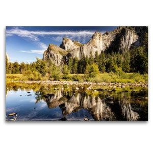 Premium Textil-Leinwand 120 cm x 80 cm quer Yosemite National Pa