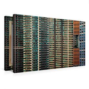 Premium Textil-Leinwand 75 cm x 50 cm quer Hong Kong; Harbour Pl