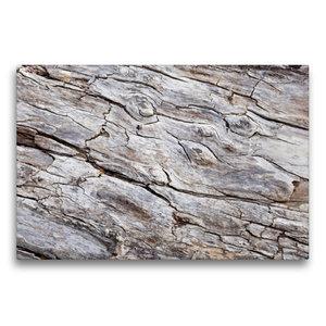 Premium Textil-Leinwand 75 cm x 50 cm quer Uriges Treibholz