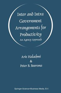 Inter and Intra Government Arrangements for Productivity