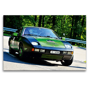 Premium Textil-Leinwand 120 cm x 80 cm quer Porsche 928 - 1978