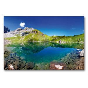 Premium Textil-Leinwand 90 cm x 60 cm quer Der Wildsee mit der G