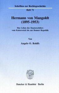 Hermann von Mangoldt (1895 - 1953)