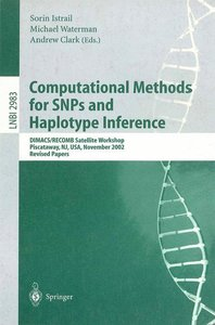 Computational Methods for SNPs and Haplotype Inference