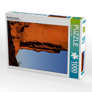 Red Rock Sunset 1000 Teile Puzzle hoch