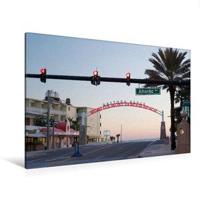 Premium Textil-Leinwand 120 cm x 80 cm quer Daytona Beach