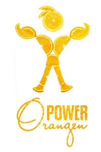 Premium Textil-Leinwand 30 cm x 45 cm hoch OrangenPower - die Kr