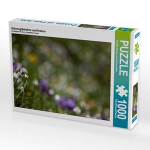 Schneeglöckchen und Krokus 1000 Teile Puzzle quer