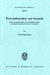 Wirtschaftsstruktur und Semantik